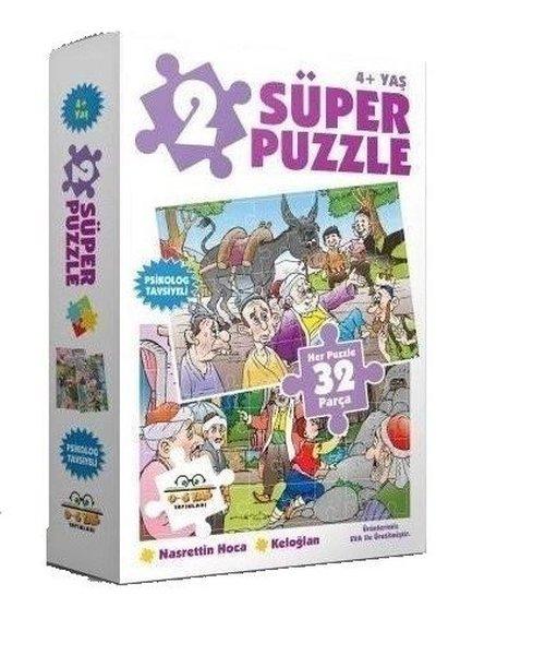 2 Süper Puzzle Nasrettin Hoca-Keloğlan 32 Parça