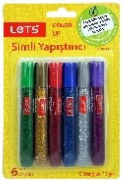 Lets Simli Yapıştırıcı 6 Renk 6 Gr. L-10206